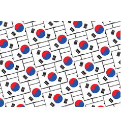 abstract south korea flag or banner vector image