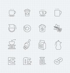 Coffee thin line symbol icon vector image