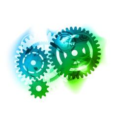 cogwheel background vector image vector image