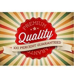 Old round retro vintage label vector image vector image
