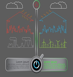 Save the world with wind energy concept vector image vector image