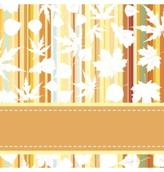 Retro pattern with autumn leafs EPS 8 vector image