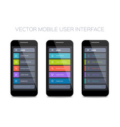 set of home pages for mobile ui vector image
