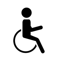 silhouette person in wheelchair vector image