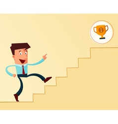 stairway to the success vector image