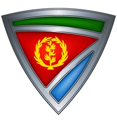 steel shield with flag eritrea vector image