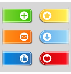 tabs with icons vector image vector image