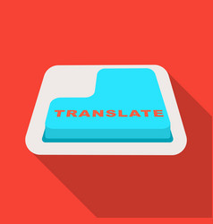 translate button icon in flat style isolated on vector image