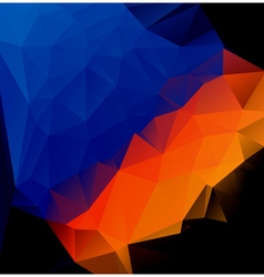 blue orange polygonal abstract vector image vector image