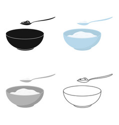 cottage cheese icon cartoon single bio eco vector image