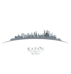 Kazan Russia city skyline silhouette vector image vector image
