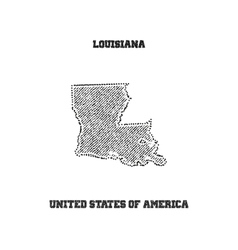 Label with map of louisiana vector image vector image