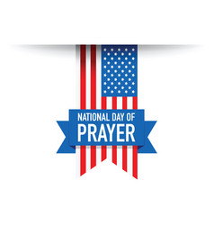 national day of pray use flag vector image