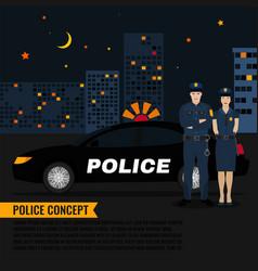 police patrol image vector image