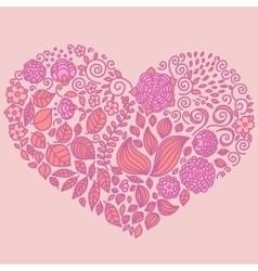 Tattoo floral doodle elements set vector image vector image