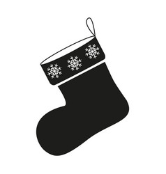 a christmas of sock icon in black vector image