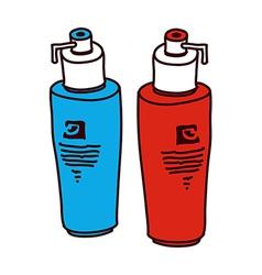 A pair of shampoo vector