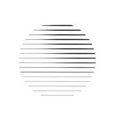 abstract circle of stripes sun logo concept vector image