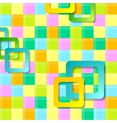 Abstract colorful squares pattern design vector