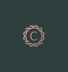Abstract linear monogram letter c logo icon design vector