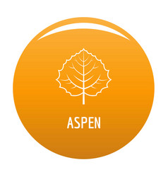 aspen leaf icon orange vector image