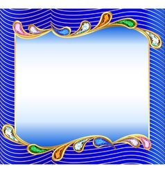 Background with a wave precious vector