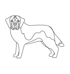 beagle single icon in outline stylebeagle vector image