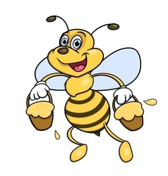 Bee is carrying honey vector