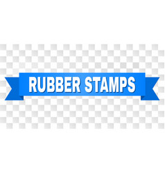 blue stripe with rubber stamps title vector image