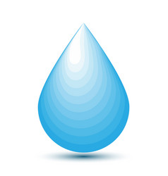 blue water drop icon on blank background vector image