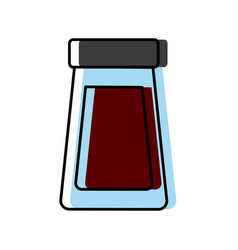 bottle glass cover plastic object icon vector image