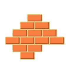 Brick wall icon build and repair symbol vector