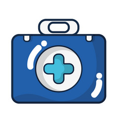 briefcase with medical symbol and fist aid kit vector image
