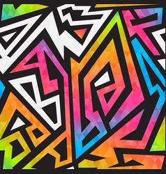 bright graffiti geometric seamless pattern vector image