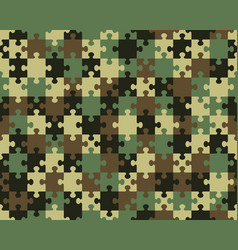 Camouflage seamless puzzle vector