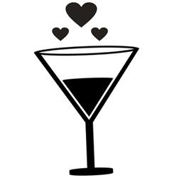 Champagne love icon vector image