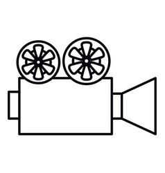 cinema film camera icon vector image