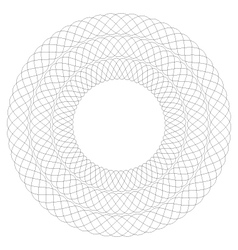 Circular guilloche pattern 3 rows vector
