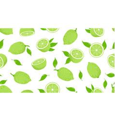 citrus pattern lime slices fresh juicy lemon vector image