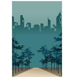 City Park Path Scene vector image