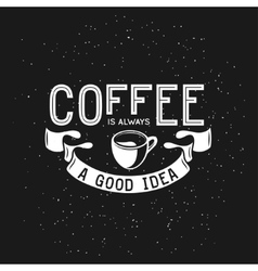 Coffee related vintage with vector image vector image