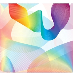 Colorful smoke on the white background vector image