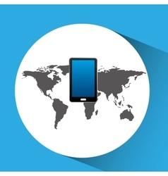 Concept globe smartphone social media vector