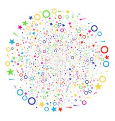 confetti stars salute globula vector image