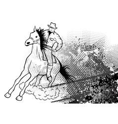 Cowboy background vector