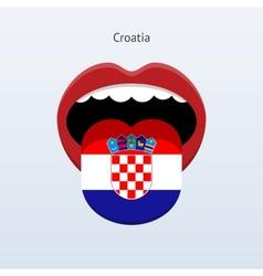 Croatia language abstract human tongue vector
