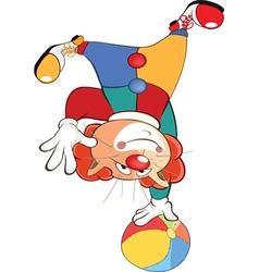 Cute Cat Clown Cartoon vector