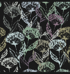 Decorative seamless pattern inflorescence dill vector