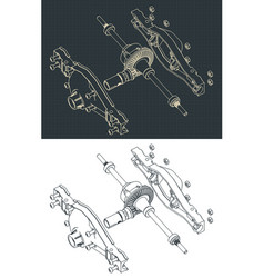 Differential isometric drawings vector