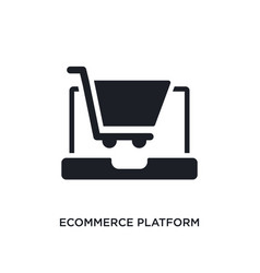 Ecommerce platform isolated icon simple element vector